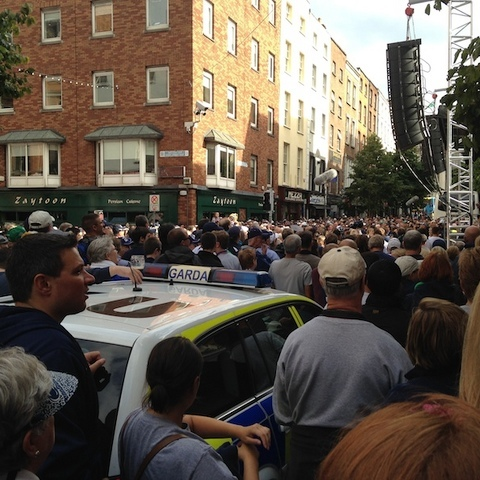 Penn State Fans Pack The Streets Of Dublin For Pep Rally