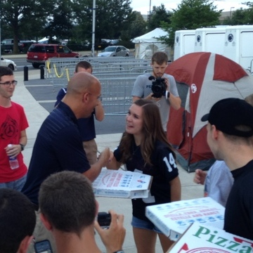 Penn State Football: James Franklin Delivers Pizza To Nittanyville Following Radio Show