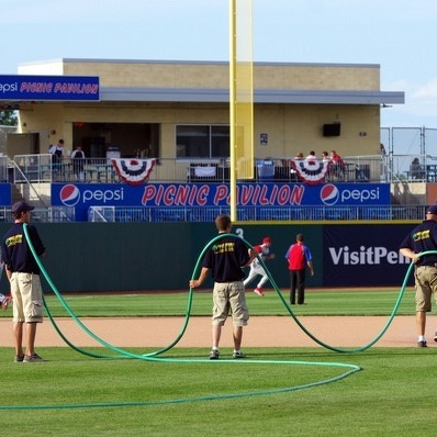 Spikes ground crew takes field to keep ballpark in top shape