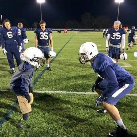 Inspiring 10-Year-Old Joins Penn State Practice