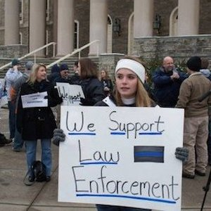 Law Enforcement Rally Held at Old Main