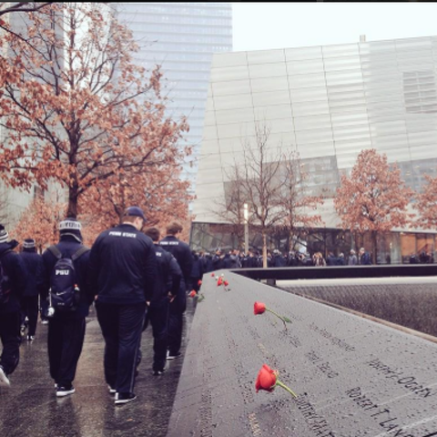 Penn State Football: Nittany Lions Visit 9/11 Memorial