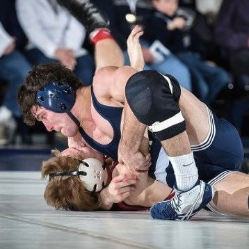 Back-to-Back Pins Propel Wrestling Team to Lopsided Victory Over No. 23 Indiana