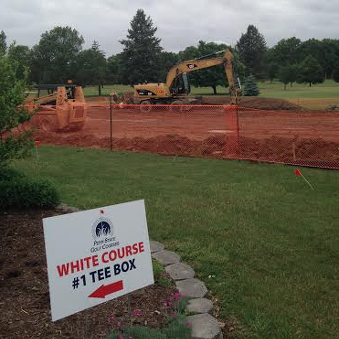 Penn State Athletics: White Course First Tee Gets Facelift
