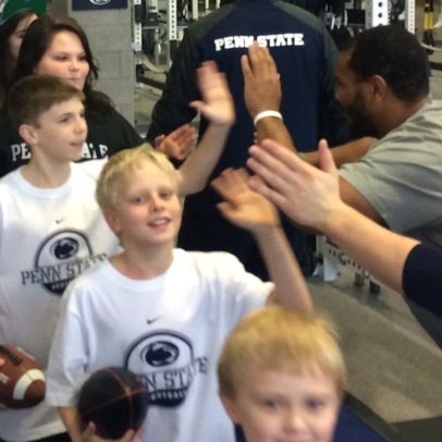 Penn State Football Players Score Big in the Community; Kids' Lift For Life Next Up