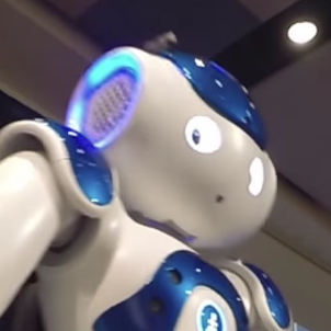 VIDEO: Student-Programmed Robot Leads 'We Are!' Chant
