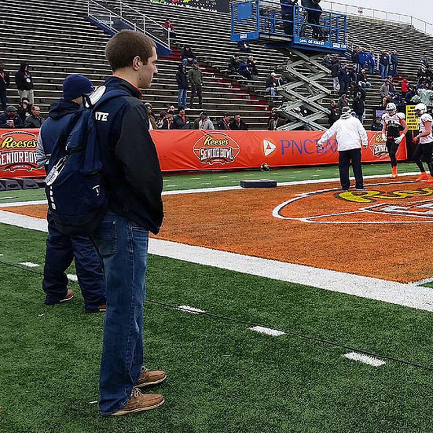Student adds to experience with role at Senior Bowl