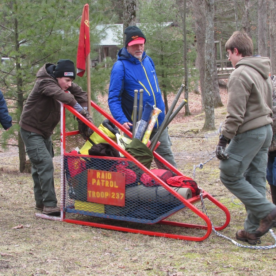 Scouts compete in Klondike Derby at Potter Twp. camp