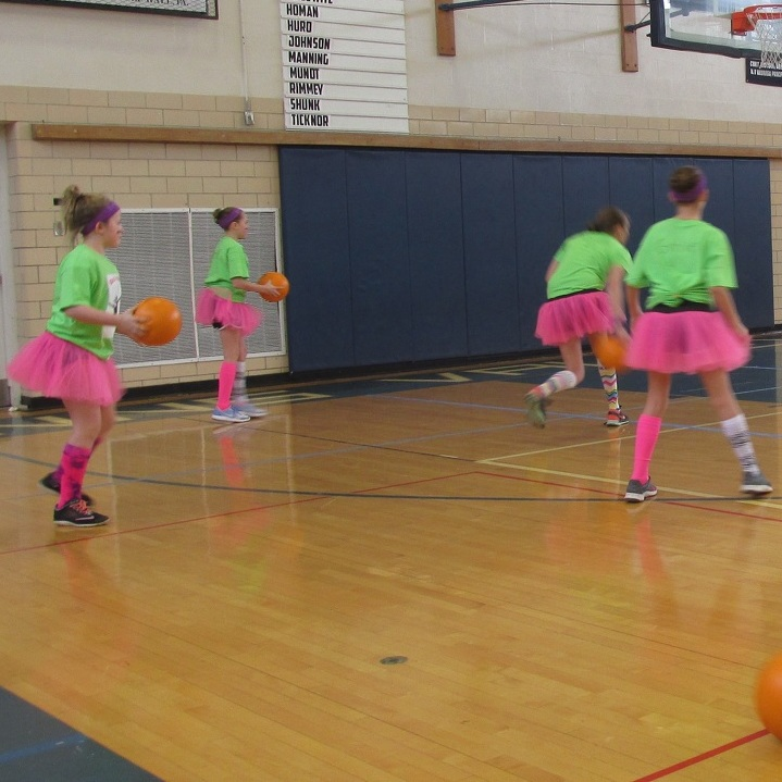 Students 'Get in the Game' at dodgeball tourney