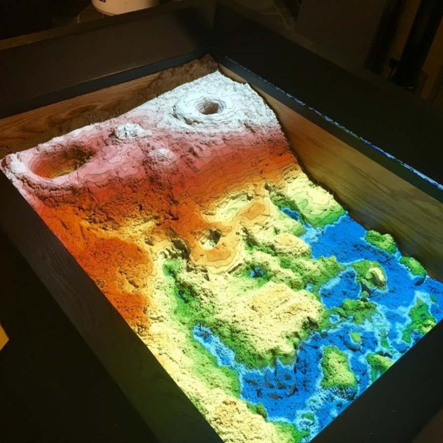 Augmented Reality Sandbox Provides a New Way to Learn About Science