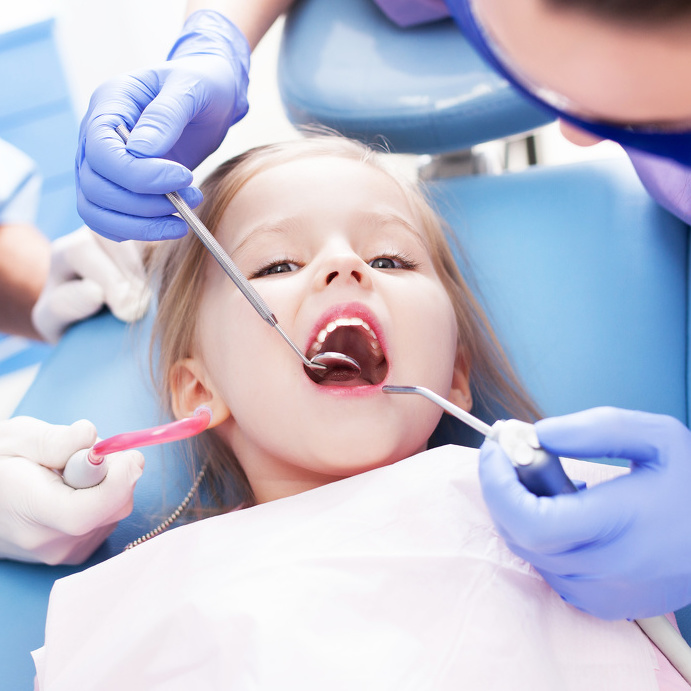Children need to be put at ease when going to the dentist