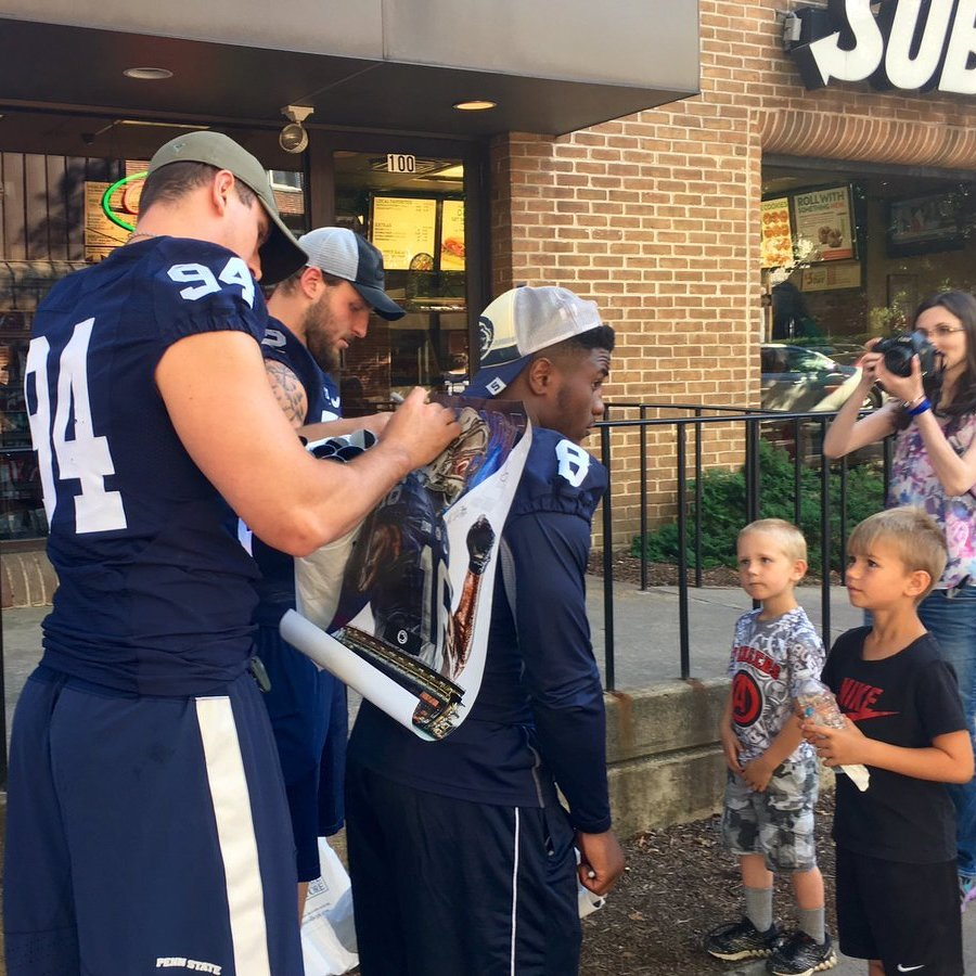 Nittany Lions Deliver Posters, Meet Fans
