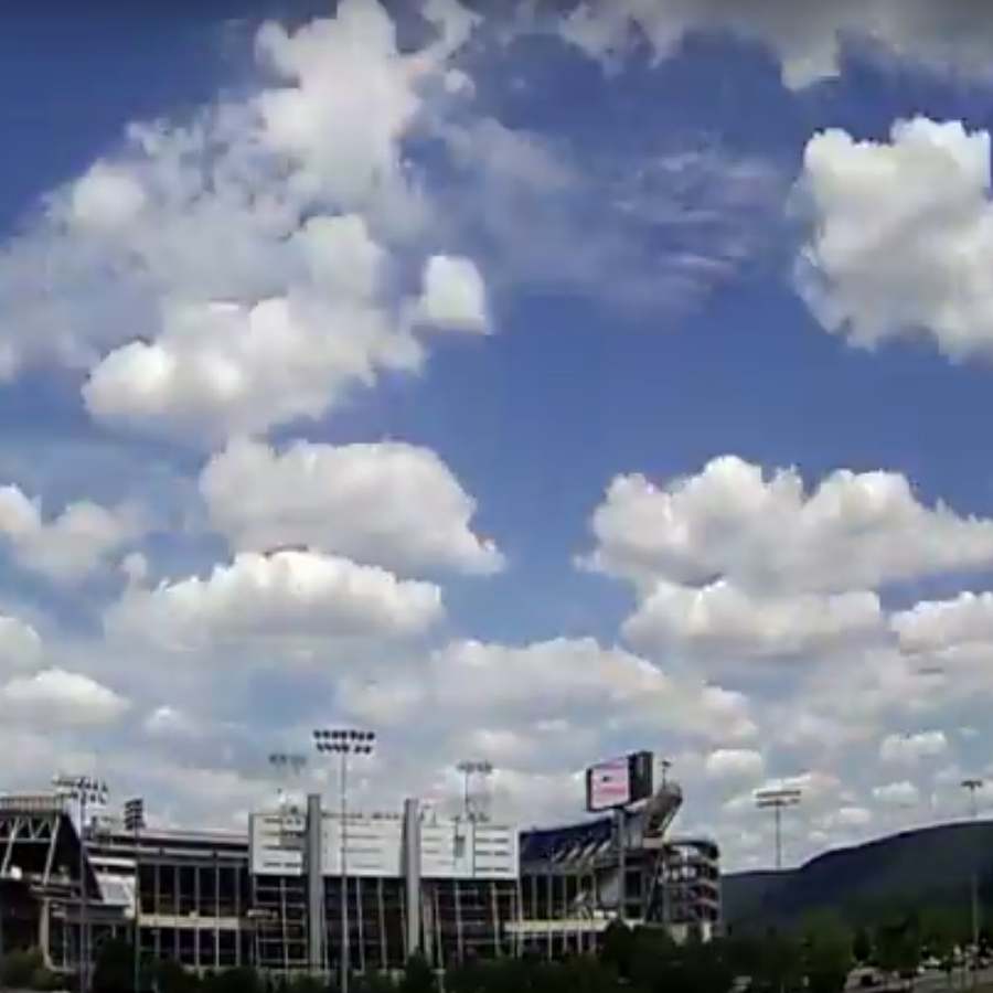 Beaver Stadium Time-lapse Camera Captures Rainbows, Fireworks & Uptempo Clouds
