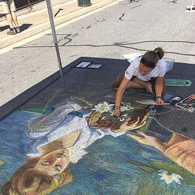 Street Painting a Shared Experience at Arts Festival