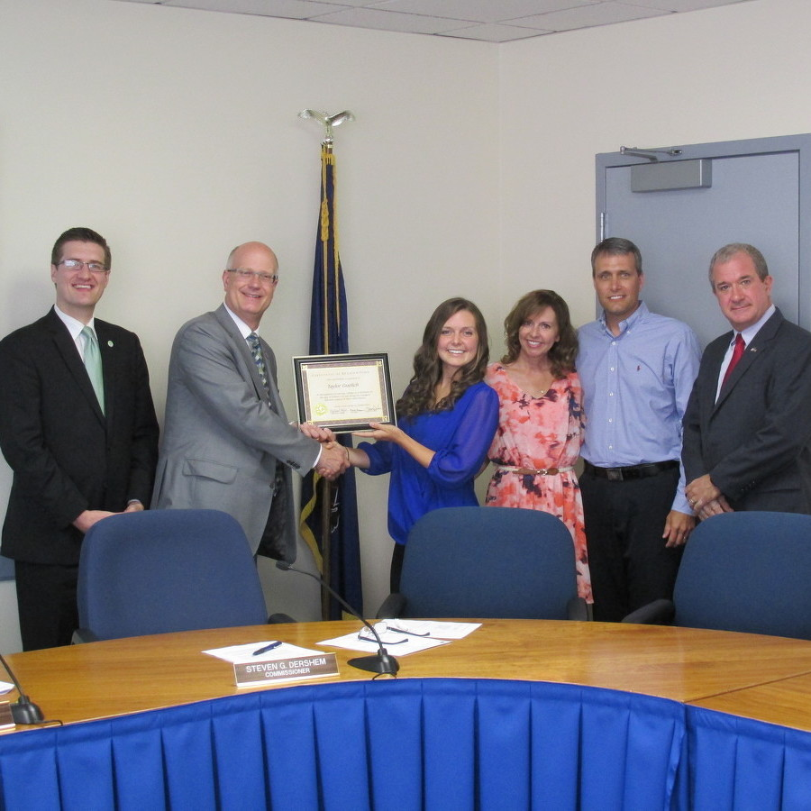 County Commissioners Honor 17-Year-Old Penn State Junior