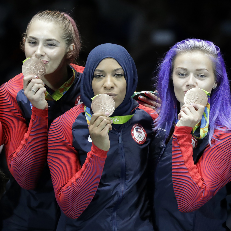 Former PSU fencer captures bronze medal