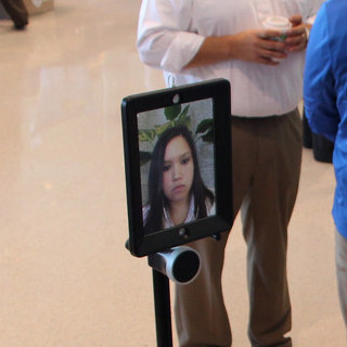 IST student attends career fair using virtual self
