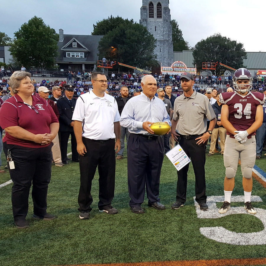 Suhey honored prior to State High game