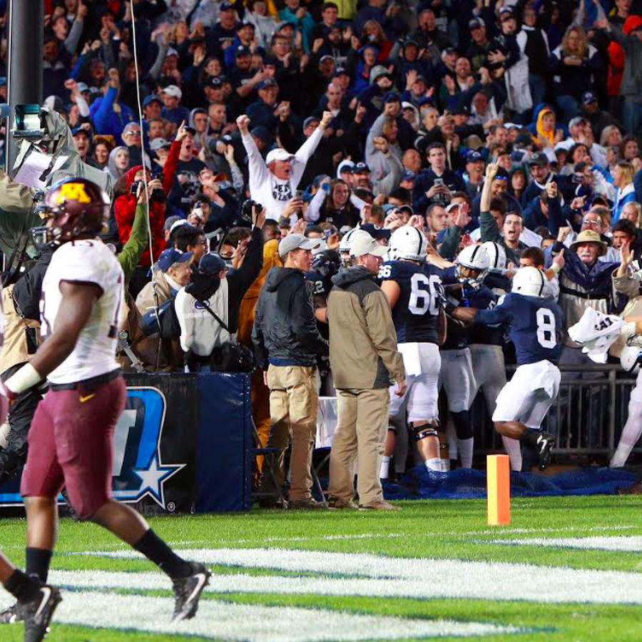 Watch Barkley Score And Nittany Lions Celebrate Overtime Victory From Field Level