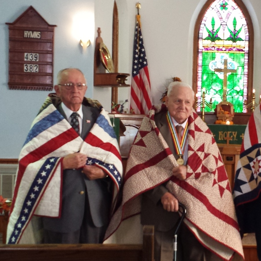Vets receive Quilts of Valor in Spring Mills ceremony
