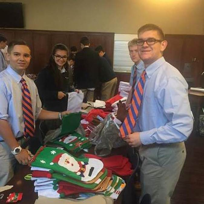 Saint Joe's Students Fill Stockings for Troops