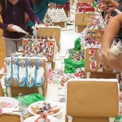 Centre Hall Students Make Gingerbread Village