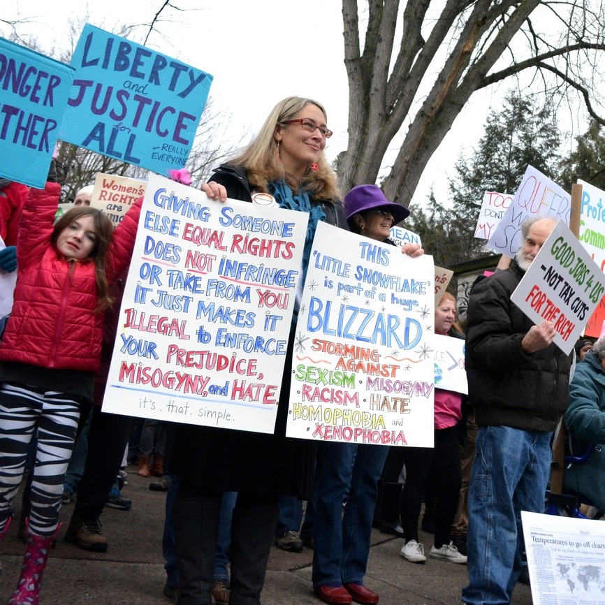 Rally in State College backs rights for all