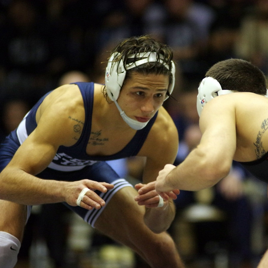 Penn State wrestlers top Iowa as Mark Hall makes debut