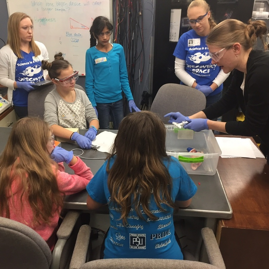 Girls from Bellefonte school see firsthand that STEM not just for boys