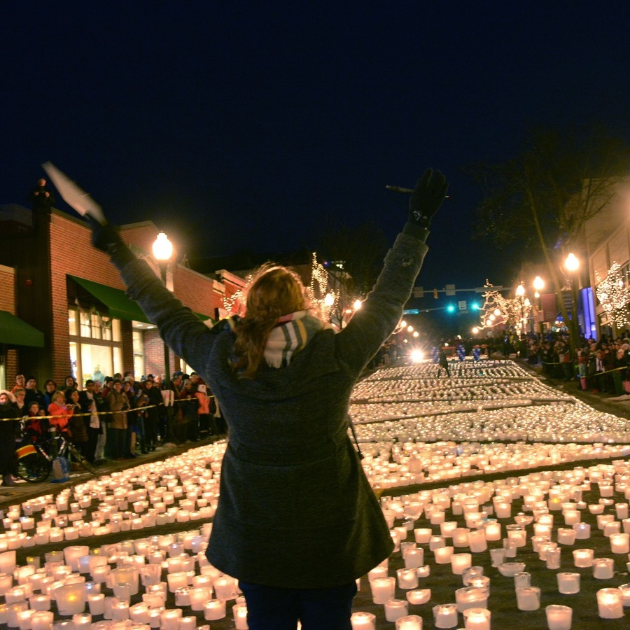 State College lights up, shatters world record