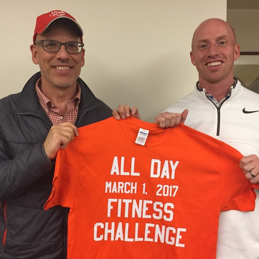 Two Penn State Employees Ready for Their 13-Hour Fitness Challenge