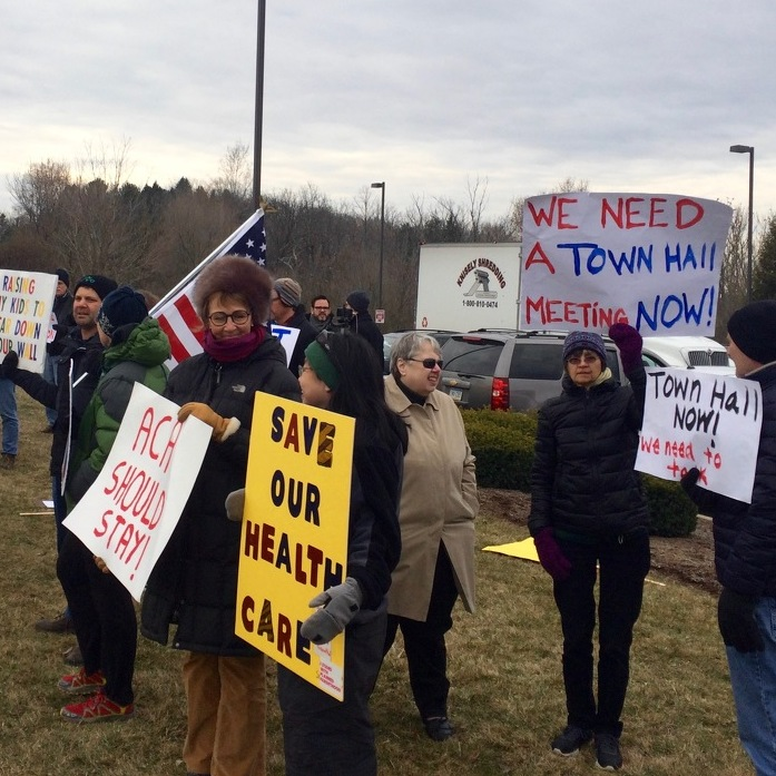 Residents Rally Again for Town Hall, Thompson Says He's Planning One