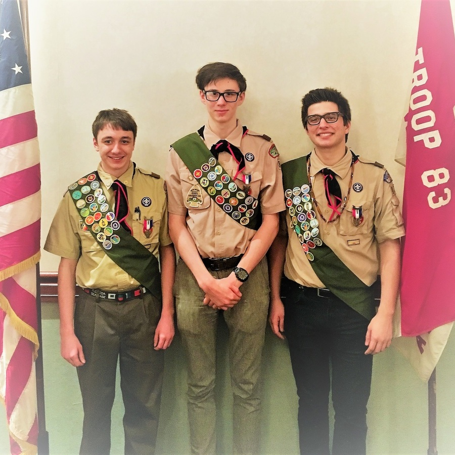 Court of Honor celebrates 3 new State College Eagle Scouts