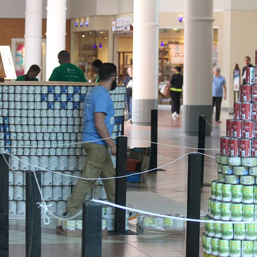 'Canstruction' Event Under Way to Benefit State College Food Bank