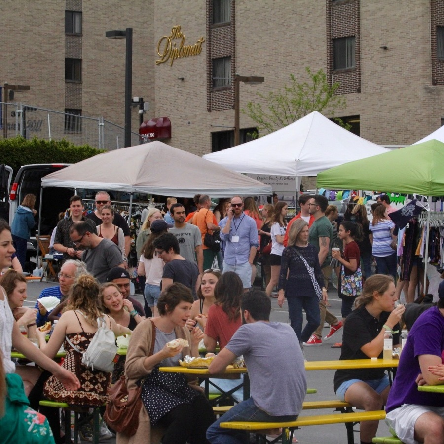 Urban-Style Flea Market Pop Up Ave Draws Crowds to Downtown State College