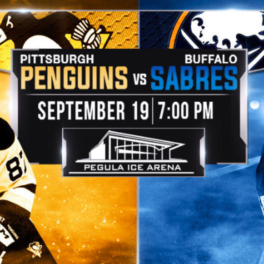Penguins And Sabres Set For Preaseason Meeting At Pegula Ice Arena
