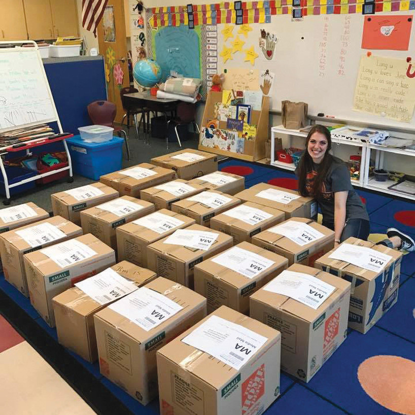Student-Teacher's Kindergarten Class Collects 1,300 Books for School in Africa