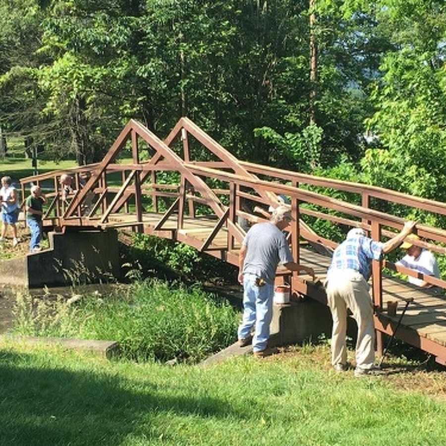 Boalsburg Footbridge Gets a Makeover After Two Decades