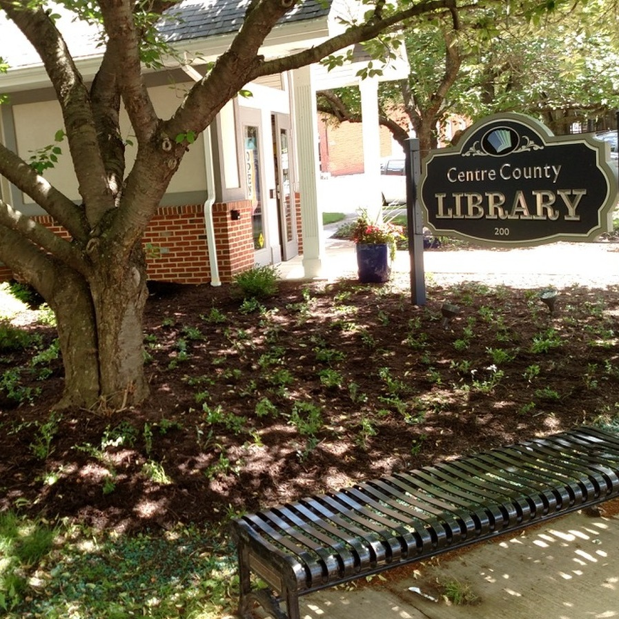 Library's outdoor space gets 'Garden Club' treatment