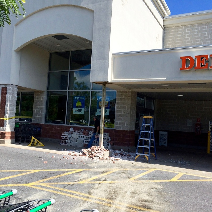 SUV Crashes Into Grocery Store