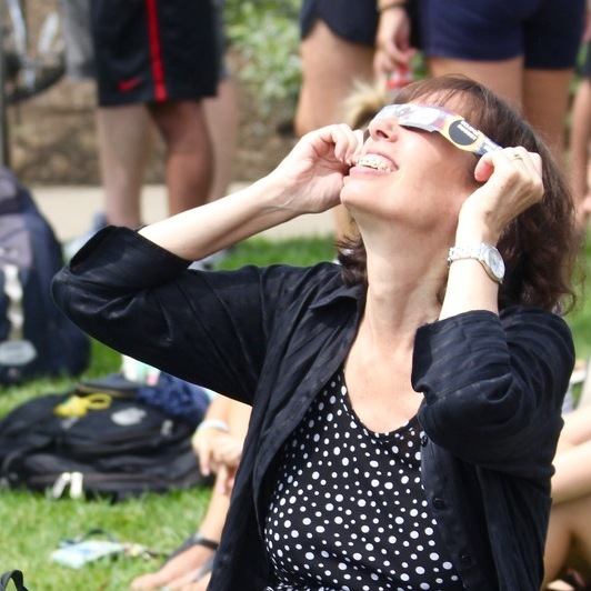 Community Members Gather to View Eclipse