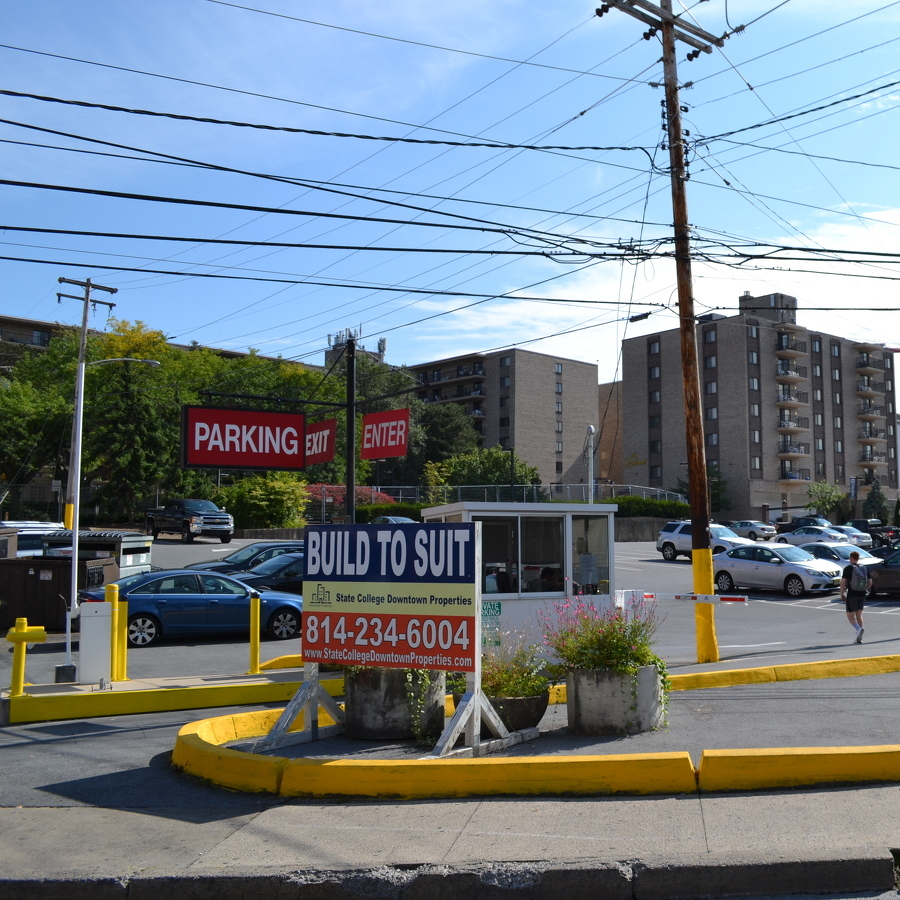 Downtown parking lot for sale