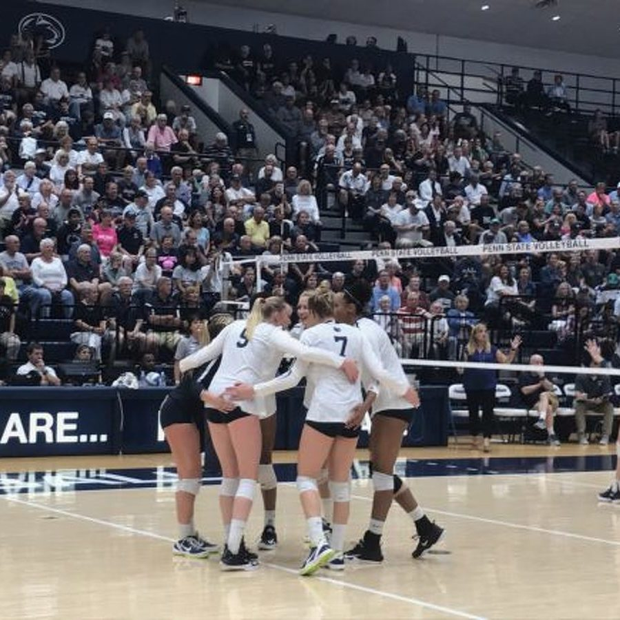 No. 2 Penn State Women's Volleyball Downs Yale in Straight Sets