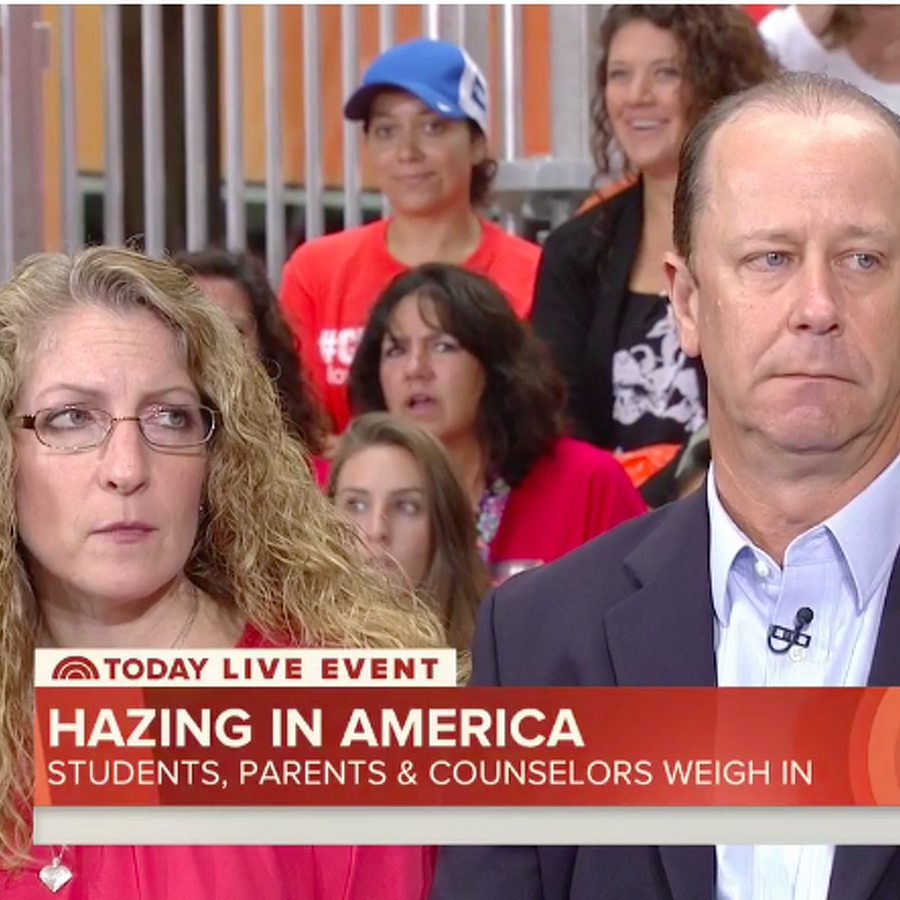 Piazza Family Appears on Today Show for National Hazing Prevention Week