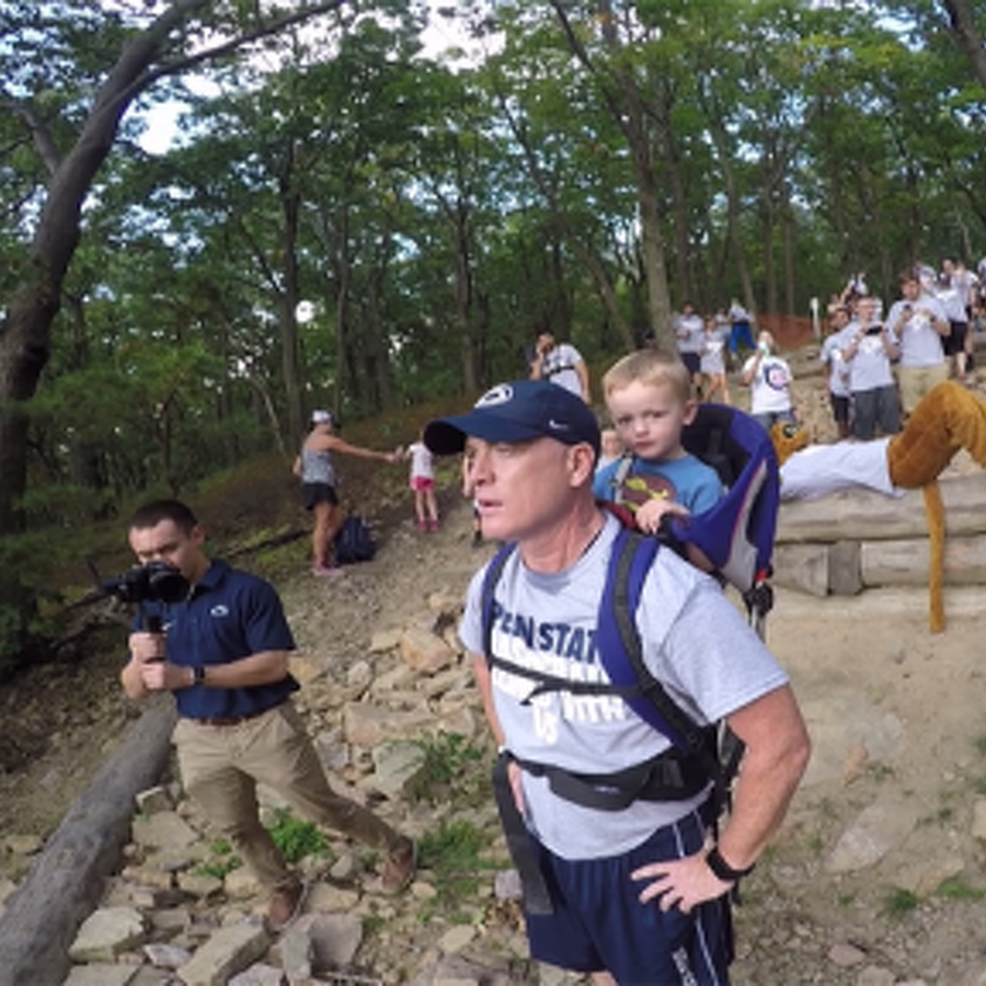 Climb with Us: Chambers Leads Fans up Mount Nittany