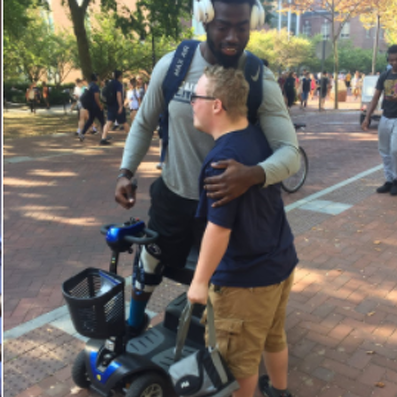 Torrence Brown Receives Get-Well Gift from Penn State Fan
