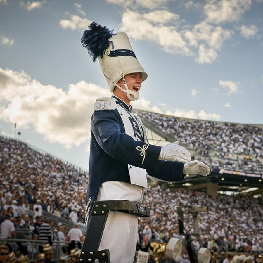 Leader of the Blue Band: For Drum Major Jack Frisbie, It's About Much More Than the Flip