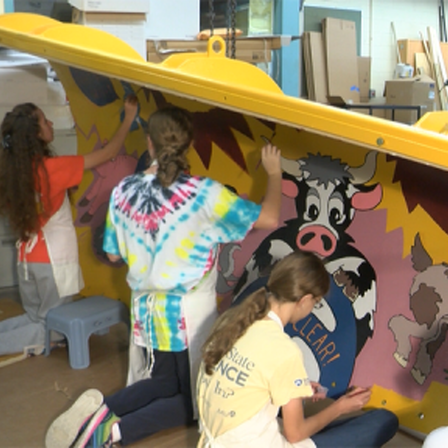 Area Schools Help PennDOT Paint the Plows