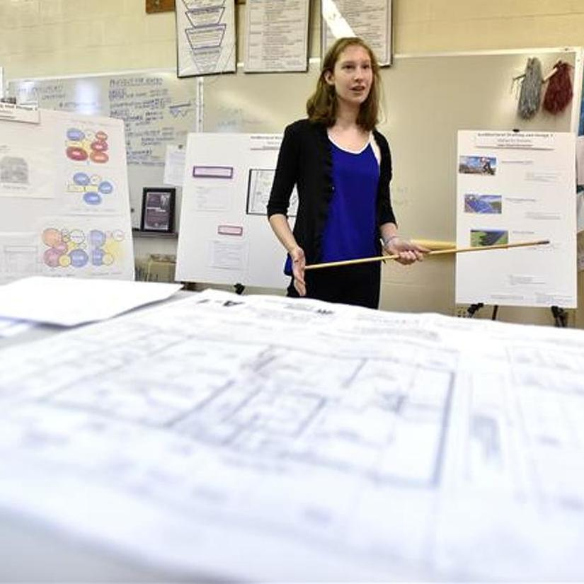State High Students Design a Habitat for Humanity House