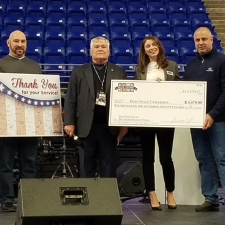 State College Businesses Donate Nearly $7,000 to Penn State Military Student Fund